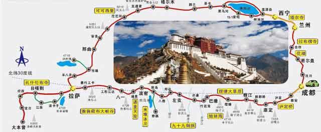 川藏南线+青藏线地图