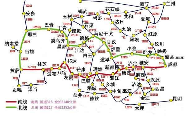 川藏线地图