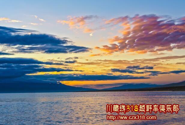 青海湖晚霞