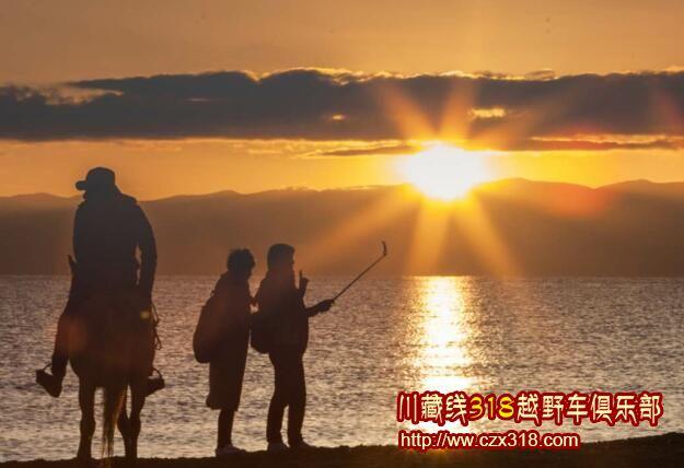 青海湖夕阳