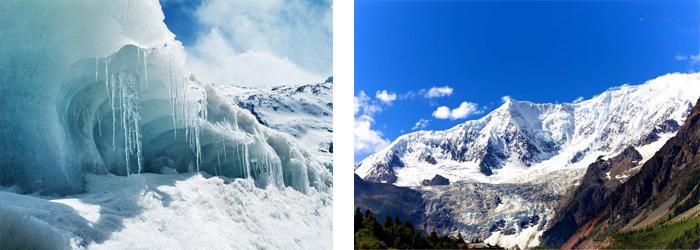 来古冰川、米堆冰川