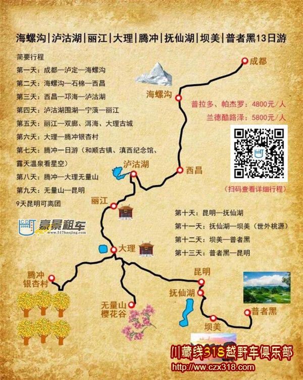 川滇暖冬路线图