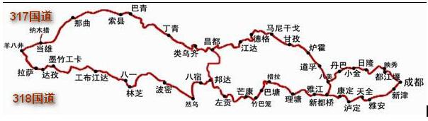 国道318川藏线最新实时路况(8月7日)