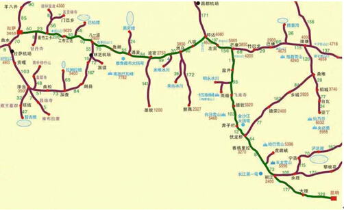 川藏线-滇藏线地图